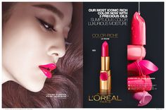 Fan Bingbing for L'Oréal - Le Rouge and Moist Matte Lipsticks