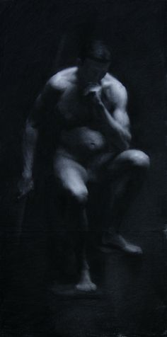 19x38 charcoal drawing by Brian Skol
