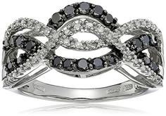 #blackdiamondgem 10k White Gold Black and White Diamond Waves Ring (1/2 cttw, I-J Color, I2-I3 Clarity), Size 7by Amazon Collection - See more at: http://blackdiamondgemstone.com/jewelry/rings/statement/10k-white-gold-black-and-white-diamond-waves-ring-12-cttw-ij-color-i2i3-clarity-size-7-com/#sthash.eKqLUyK7.dpuf