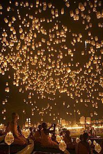 Festival de lámparas, Tailandia