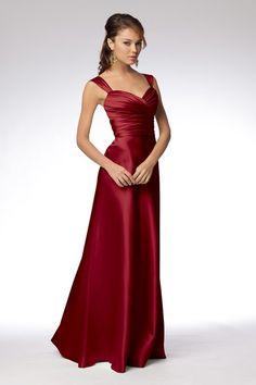Red bridesmaid's dress