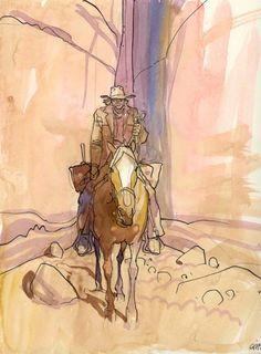 Giraud - Illustration - Blueberry par Jean Giraud - Œuvre originale