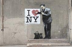 Banksy, oh Banksy. Banksy, oh Banksy. Banksy, oh Banksy. Street Art Banksy, Banksy Work, Banksy Graffiti, Urban Street Art, Urban Art, Banksy New York, Art Tumblr, I Love Ny, Stencil Art