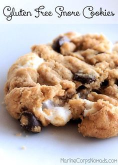 Gluten Free, flourless smore cookies with a nut-free option.
