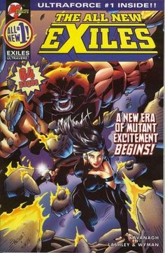 Vol.2 1995 Juggernaut The All New Exiles Painted Variant Cover No.1