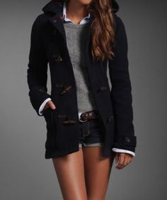Hollister Women's Adriana Wool Duffle Coat