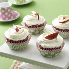 Applesauce Spice Cupcakes Recipe from Taste of Home -- shared by Edna Hoffman of Hebron, Indiana