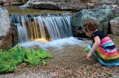A Pondless Waterfall is the perfect water feature option for families with small children.