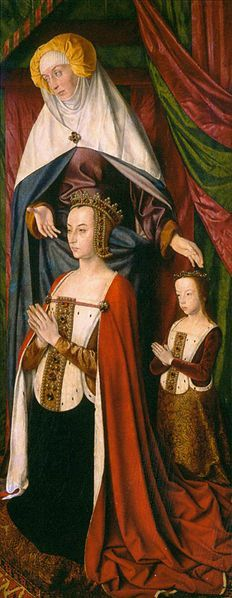 Anne of France  Artist: Jean Hey (the Master of Moulins) (active ca.1480-ca.1504)  Musem: Moulins Cathedral
