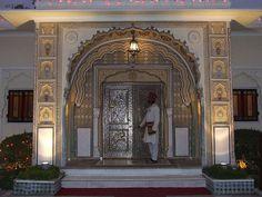 Raj Palace hotel doorway, Jaipur, India