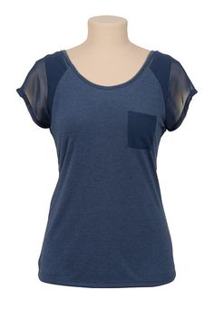 Scoop Neck Zip Back Top available at #Maurices