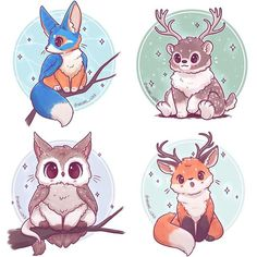 Animal fusions so far! Comment below what animal/s you'd like me to use next :3  • #cute #kawaii #chibi #animalfusion #mythicalfusion #magical #mythical #fox #redfox #fennecfox #bear #polarbear #deer #stag #reindeer #owl #cat #instadaily #instaartist #instaart #illustrationoftheday #illustration #digitalpainting #digitalart