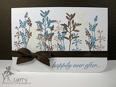 Would work great for a sympathy card. I find it hard to find ideas for sympathy cards.