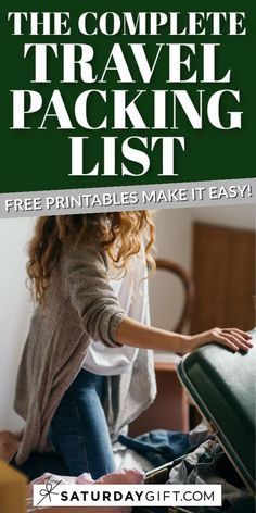 Want to make sure that you've packed all the needed things for your trip? Super! Here's a complete travel packing list that'll help you do just that! This US letter size checklist will simplify your traveling and will make you feel at ease that you won't forget anything important. Check out also the complete traveling checklist. #freeprintable #checklist #travel #packinglist #planning
