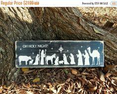 Oh Holy Night Large Nativity Scene Religious by HowGreatThouArts