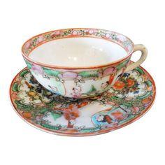 1890/'s ANTIQUE Samuel Radford Imari Style Gold Gilded Tea Cup Saucer Plate Trio