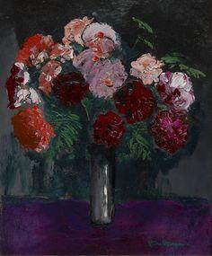 Roses - Kees van Dongen, c. 1931 Dutch, 1877–1968 Oil on canvas, 64.8 x 54 cm. (25.5 x 21.3 in.)