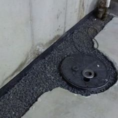 A French Drain System Installed Along The Perimeter Of A Basement Floor.    Curb Appeal   Pinterest   French Drain, As And Basement Waterproofing