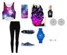 """""""Galaxy"""" by jazzybaee ❤ liked on Polyvore featuring Max Studio, Vans, Leg Avenue, Vince Camuto, Sally Hansen and Adina Reyter"""