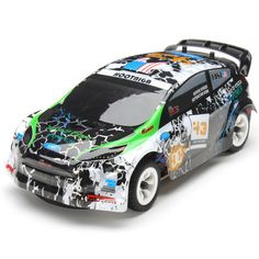 2.4Ghz 1/28 4WD Brushed RC Rally Car RTR up to 30 km/h