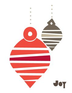Stripey Ornaments 2012 Holiday Card Collection via Modern Paper Goods #modern_paper_goods #christmas_cards