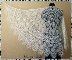 Ravelry: Project Gallery for Perce-Neige (Snowdrop) pattern by Hiroko Payne… lace shawl Shawl Patterns, Lace Patterns, Knitting Patterns Free, Crochet Patterns, Knitted Shawls, Crochet Shawl, Crochet Lace, Lace Shawls, Lace Scarf