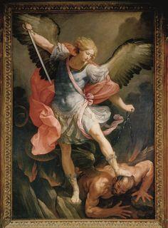 Guido Reni, S. Michele Arcangelo (1635), Roma,  chiesa Santa Maria della Concezione (dei cappuccini)