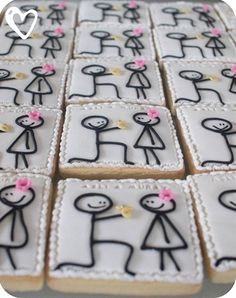 Engagement party cookies... - Click image to find more weddings Pinterest pins