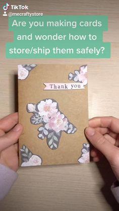 Easy Handmade Cards, Handmade Thank You Cards, Handmade Card Making, Beautiful Handmade Cards, Thank You Gift For Parents, Thank You Gifts, Vintage Greeting Cards, Greeting Cards Handmade, Cardboard Crafts
