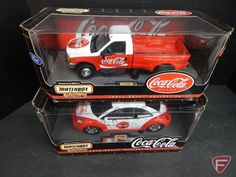 2 x the money; Coca-Cola Matchbox Collectibles Ford Pickup truck and VW beetle $22 for both