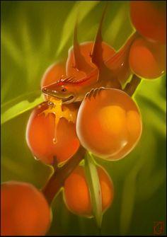 Peach dragon by GaudiBuendia on DeviantArt