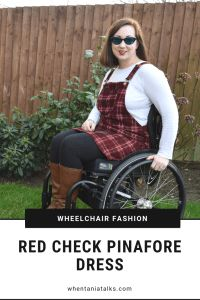 Looking for a pinafore dress that works for both able and disabled people? Here I share how I style a red check pinafore dress as a wheelchair user. Check Pinafore Dress, Cool Style, My Style, Piece Of Clothing, Lady, Beautiful Outfits, What To Wear, Disabled People, Style Inspiration