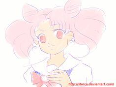 Sailor Chibimoon henshin by starca