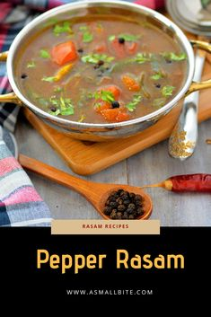 Today I have shared a very simple and basic Pepper Rasam Recipe, with step by step detailed photos and a short you tube video. This Milagu Rasam recipe is a perfect medicine to relieve from cold and cough. Paneer Recipes, Indian Food Recipes, Soup Recipes, Vegetarian Recipes, Cooking Recipes, Ethnic Recipes, Indian Soup, Indian Dishes, Rasam Recipe