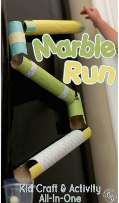 This cute Marble Run is a great craft and activity to entertain your kids!