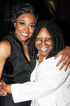 Patina Miller catches up with Whoopi Goldberg