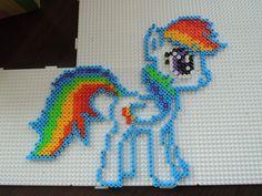Rainbow Dash aus Bügelperlen  Perler Beads