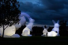 Hop on over to Downtown LA for this installation by Australian artist Amanda Parer, who designed larger-than-life rabbits made from white nylon, which are then