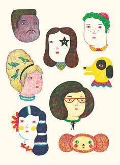 wonderful characters by ana albero
