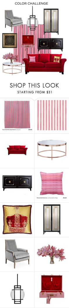"""#In The Pink"" by mpartist ❤ liked on Polyvore featuring interior, interiors, interior design, home, home decor, interior decorating, Christian Lacroix, Portfolio, Designers Guild and Joe Ruggiero Collection"