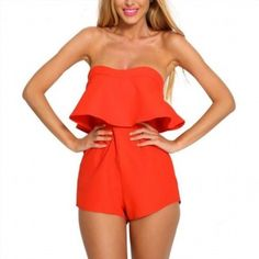 34.48$  Watch now - http://vihrt.justgood.pw/vig/item.php?t=ye6pxf14613 - Strapless Frill Backless Women One Piece Jumpsuits 34.48$