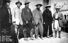 Mexican revolutionaries General Rodolfo Fierro, Pancho Villa, General Toribio Ortega and Colonel Juan Medina c1913