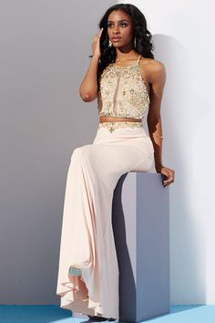 #74. Make your date blush when you step out in Jovani 33493