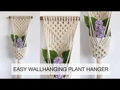 Here is my simple plant hanger tutorial. Anyone can make this, even someone who has never tied a single macrame knot! Macrame Plant Hanger Patterns, Macrame Plant Holder, Macrame Patterns, Macrame Supplies, Macrame Projects, Wall Plant Hanger, Macrame Design, Macrame Knots, Micro Macrame