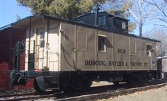 Stay in a real caboose at Mason House Inn of Bentonsport in Iowa