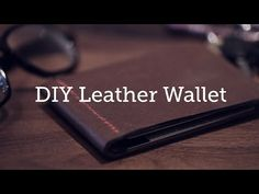 Making a cool leather wallet is easy. Just get yourself some scrap strips of leather ant you are good to go. No special tool required.You can see full process of making this simple wallet in the video. Wallet Sewing Pattern, Leather Wallet Pattern, Brown Leather Wallet, Sewing Leather, Leather Tooling, Diy Leather Goods, Leather Diy Crafts, Leather Projects, Custom Leather