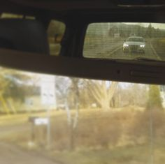That wonderful feeling of looking in the rearview at a sexy car and it's headlights.