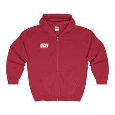 Hi, I'm Hugh Mungus Full Zip Hooded Sweatshirt