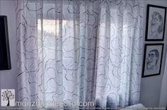 Detalle Cortina Tablones http://www.manzanodecora.com/cortinas.html