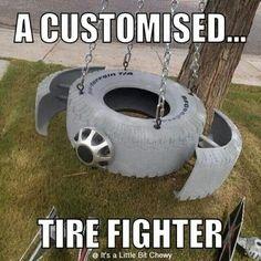 Star Wars tire swing